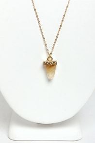 Out of Quartz Crystal Necklace at Lulus.com!