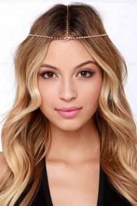 Mystic Mood Gold Headpiece at Lulus.com!