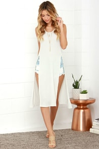 Hillside Explorer Cream Racerback Maxi Top at Lulus.com!