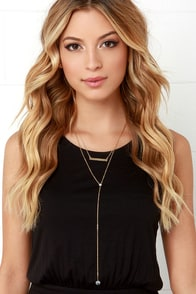 By Chance Gold Layered Drop Necklace at Lulus.com!