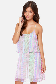 In Print Condition Lavender Print Dress at Lulus.com!
