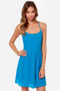 Cute or Dare Bright Blue Dress at Lulus.com!