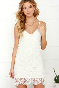 Castle in the Sky Ivory Lace Dress at Lulus.com!
