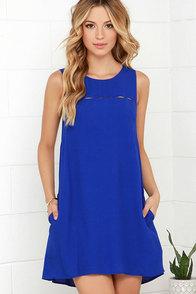 Break the Spell Blue Dress at Lulus.com!