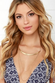 Ambrosial Beauty Gold Layered Collar Necklace at Lulus.com!