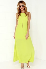 Mayan Empress Chartreuse Maxi Dress at Lulus.com!