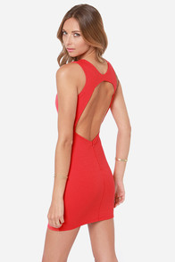 Home Court Advantage Backless Red Dress at Lulus.com!