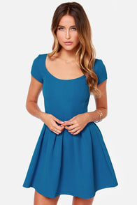 Seam Team Blue Skater Dress at Lulus.com!