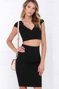 Clear-Eyed Black Two-Piece Dress at Lulus.com!
