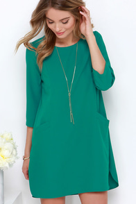 Jack by BB Dakota Dee Teal Shift Dress at Lulus.com!