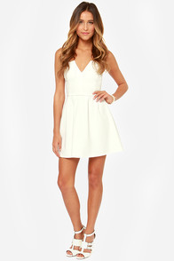 LULUS Exclusive Notch Landing Ivory Strapless Dress at Lulus.com!