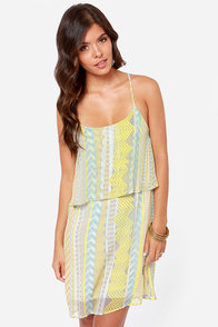 In Print Condition Yellow Print Dress at Lulus.com!