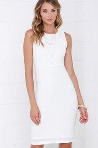 Bright Idea Ivory Bodycon Midi Dress at Lulus.com!