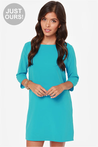 LULUS Exclusive Open Heart Bright Blue Shift Dress at Lulus.com!