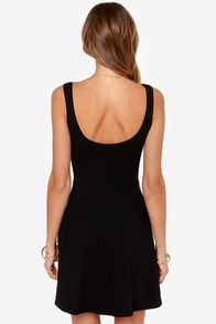 Devil May Flare Black Dress at Lulus.com!