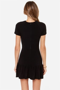 Overnight Sensation Black Dress at Lulus.com!