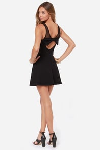 Bow Big Deal Black Dress at Lulus.com!
