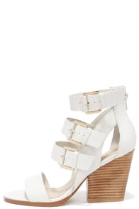 Very Volatile Martel Ice White Leather Caged Heels at Lulus.com!