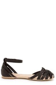Mixx Shuz Brady Black Strappy Flat Sandals at Lulus.com!