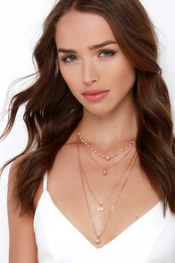 Leap and Twirl Rose Gold Layered Necklace at Lulus.com!
