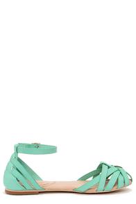 Mixx Shuz Brady Mint Strappy Flat Sandals at Lulus.com!