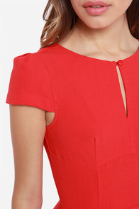 LULUS Exclusive In the Zone Red Dress at Lulus.com!