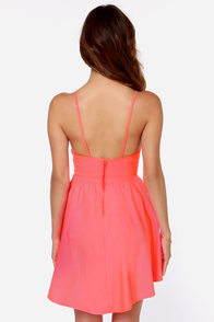 Save the Last Dance Neon Coral Dress at Lulus.com!