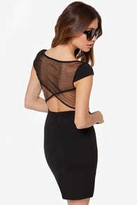 Black Swan Noire Black Dress at Lulus.com!
