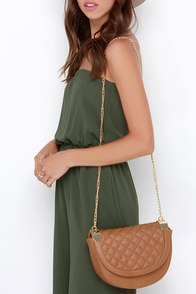 Grand Design Tan Quilted Purse at Lulus.com!