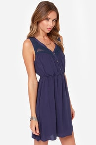 LULUS Exclusive Count Me In Navy Blue Dress at Lulus.com!