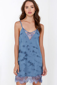 Amuse Society Poppy Blue Tie-Dye Dress at Lulus.com!