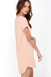 New Era Blush Shift Dress at Lulus.com!