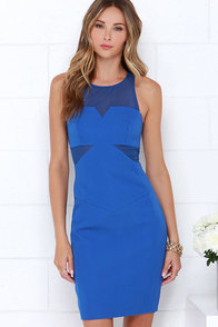 Finders Keepers Nothing to Lose Cobalt Blue Dress at Lulus.com!