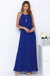 Dee Elle Hue Are Lovely Royal Blue Maxi Dress at Lulus.com!