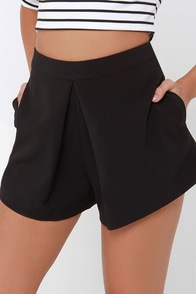 A Different Angle Black Shorts at Lulus.com!