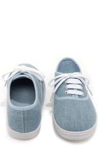 Bamboo Buddy 01 Light Blue Denim Sneakers at Lulus.com!