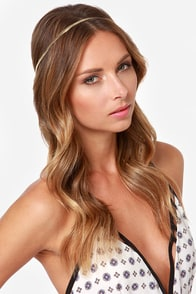 Golden Opportunity Gold Headband at Lulus.com!