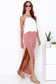 Maxi-mum Power Dusty Rose Maxi Skirt at Lulus.com!