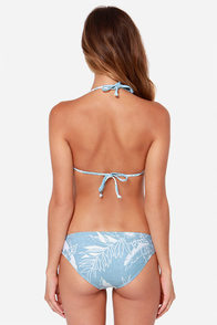 Billabong Maui Light Blue Tropical Print Bikini at Lulus.com!