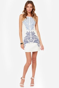 Left My Heart in Manhattan Embroidered Ivory Dress at Lulus.com!
