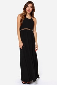 I Know A Place Black Backless Maxi Dress at Lulus.com!