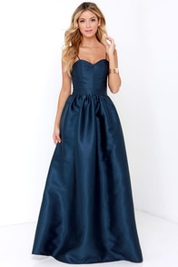 Destiny Was Watching Navy Blue Maxi Dress at Lulus.com!