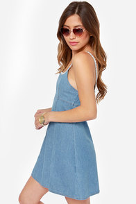Mink Pink California Dreamin Denim Dress at Lulus.com!
