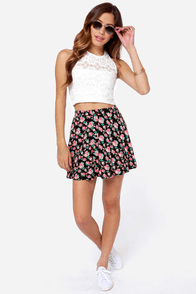 Mink Pink Sweet Thing Ivory Lace Crop Top at Lulus.com!
