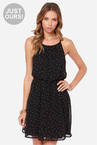 LULUS Exclusive Got the Dots for You Black Polka Dot Dress at Lulus.com!