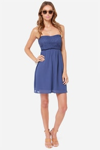 LULUS Exclusive Fun Forever Crochet Blue Dress at Lulus.com!