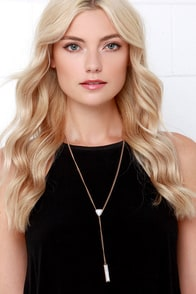 Marble Fab Gold and Ivory Drop Necklace at Lulus.com!