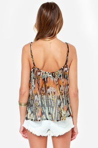 RVCA Mode Archaic Multi Print Top at Lulus.com!