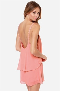 Daisy-ing is Believing Peach Dress at Lulus.com!