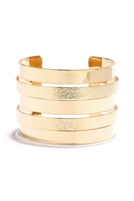 Operatic Gold Bracelet at Lulus.com!